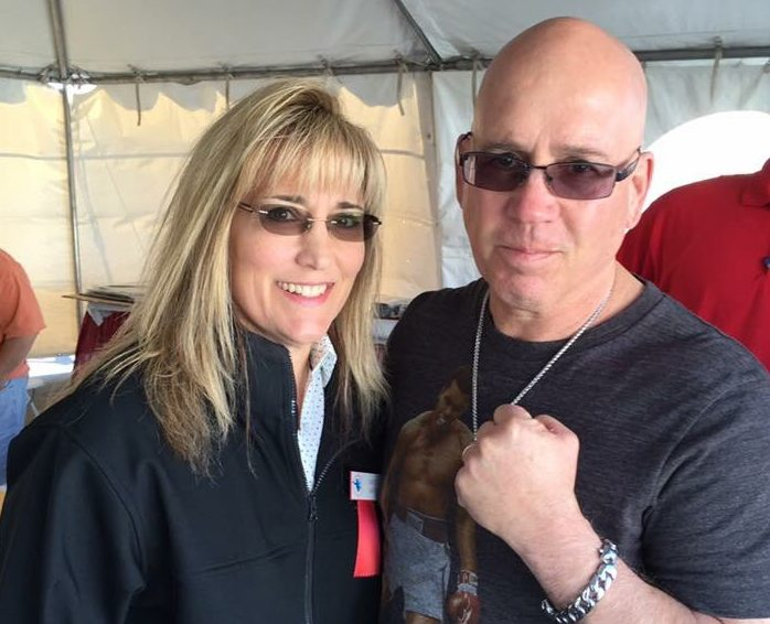 "Christy Martin and Mike ""Lo"" Snyder at the 2016 International Boxing Hall of Fame Weekend."